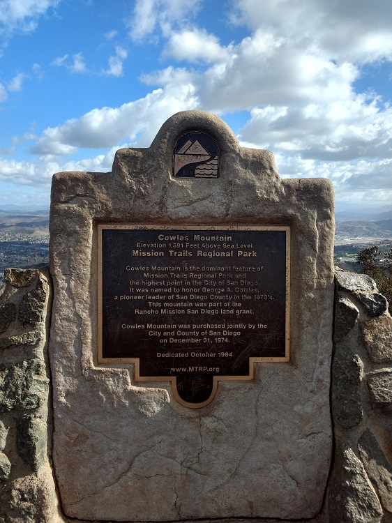 Coweles Mountain Hiking Trail Guide, Mission Trails Regional Park