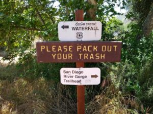 Cedar Creek Falls, Hiking Trail Guide, San DIego, California