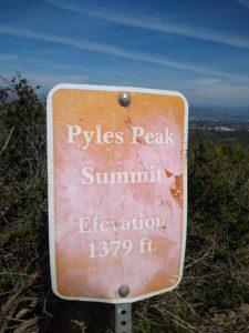 Mission Trails Regional Park, Five Peak Challenge, Pyles Peak